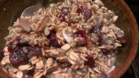 Cranberry Almond Buckwheat cereal